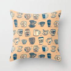 Coffee & Tea Throw Pillow