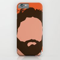 iPhone & iPod Case featuring Zach Galifianakis Digital Portrait by RoarsAdams