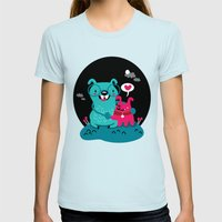 True Love Womens Fitted Tee Light Blue SMALL