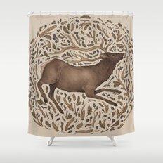 Elk in Nature Shower Curtain
