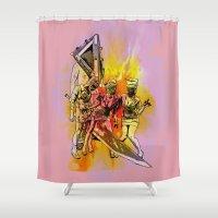 Silent Thrill Shower Curtain