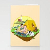 Custom Illustration for Emma and Edward Stationery Cards