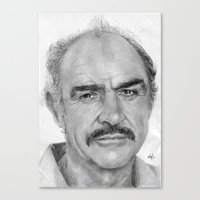 Sean Connery Traditional Portrait Print Canvas Print