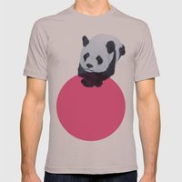 panda bear Mens Fitted Tee Cinder SMALL