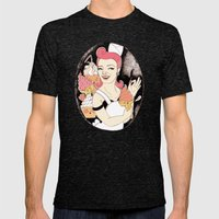 The Ice Cream's Nightmar… Mens Fitted Tee Tri-Black SMALL
