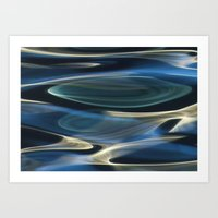 Water / H2O #2  (water abstract) Art Print