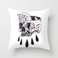 Dark Throw Pillow