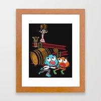 Donkey Miss Simian. Framed Art Print