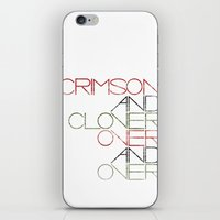 Crimson And Clover Over … iPhone & iPod Skin