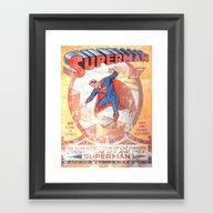 Superman Poster Framed Art Print