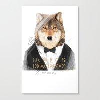 Loup Gris Canvas Print