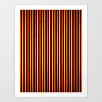 Yipes! Stripes! Art Print