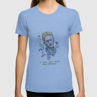 I Love You More Than David Bowie Womens Fitted Tee Athletic Blue SMALL