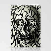 lost Stationery Cards featuring Skull by Ali GULEC