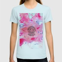 Versace Medusa  Womens Fitted Tee Light Blue SMALL