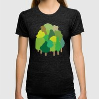 minibosque Womens Fitted Tee Tri-Black SMALL