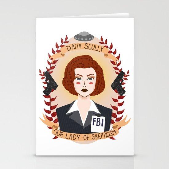 Dana Scully Stationery Card