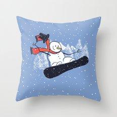 Snow Ahead! Throw Pillow