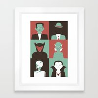 Monster Mash Green Framed Art Print