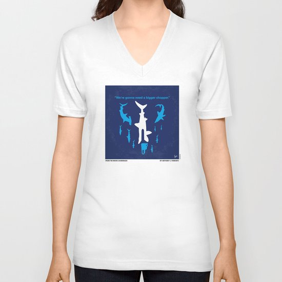 No216 My Sharknado minimal movie poster V-neck T-shirt