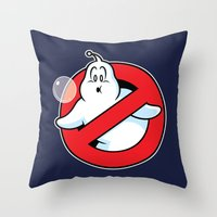 Bubblebusters Throw Pillow
