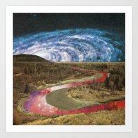 Space River Art Print