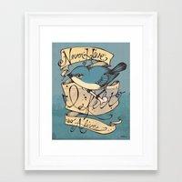 Never Have I Felt So Ali… Framed Art Print