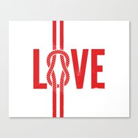 Love Knot (Red) Canvas Print