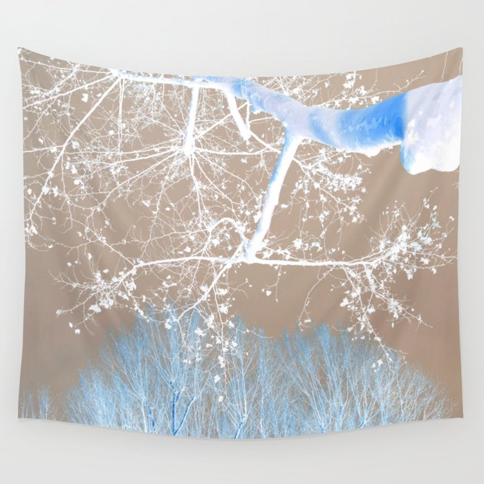 blue grey trees wall tapestry by habish society6. Black Bedroom Furniture Sets. Home Design Ideas