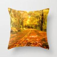 Autumns Glow Throw Pillow