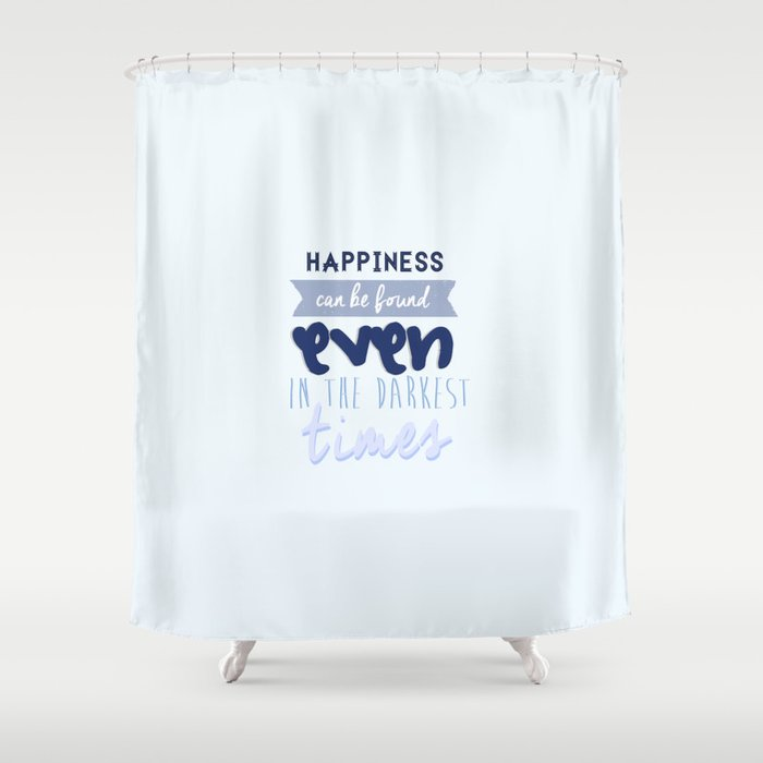 Harry Potter Quote Shower Curtain by Sümeyra Altunok