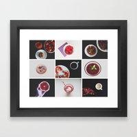 Morning stories - RED set Framed Art Print