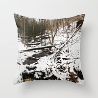 Downhill Stream  Throw Pillow