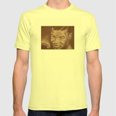 round 7...mike tyson Mens Fitted Tee Lemon SMALL