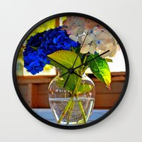 Light and flowers Wall Clock