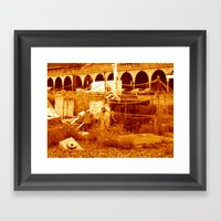 fishing & the  beach (brighton 07) Framed Art Print