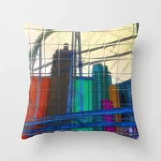 City Echoes Throw Pillow