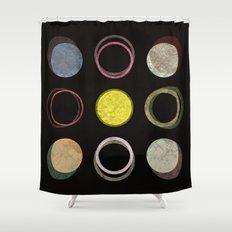 12 Circles Shower Curtain