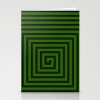 Squared Spiral Stationery Cards