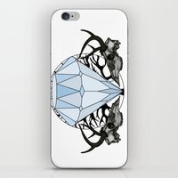 Diamond and skulls iPhone & iPod Skin