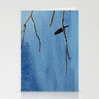 Bird on branch Stationery Cards