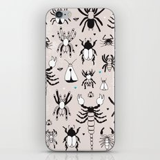 Creepy grunge insect and spider illustration pattern print iPhone & iPod Skin