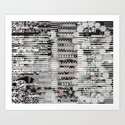 Vulnerability Commerce (P/D3 Glitch Collage Studies) Art Print