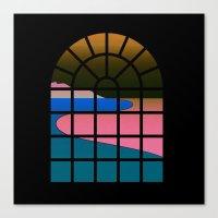 WINDOW 001: BEACH VIEW Canvas Print