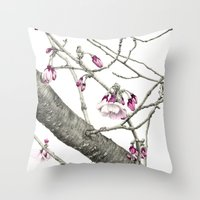 April Blossoms Throw Pillow
