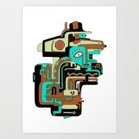 Dimensional Beings II Art Print