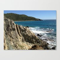 Rock Formation, St. John, East End, Virgin Islands, Caribbean Canvas Print