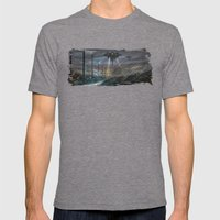 Not Alone Mens Fitted Tee Tri-Grey SMALL