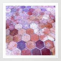 Cathedral Tile, Chartres… Art Print