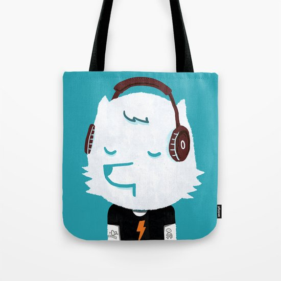 Metal Rock Dog Tote Bag